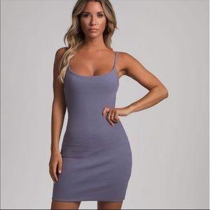 Charcoal meshki midi Dress